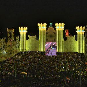 Architektonisches Lichtspektakel: Fest der-Santa Domenica Scorrano (Apulien-Salento)